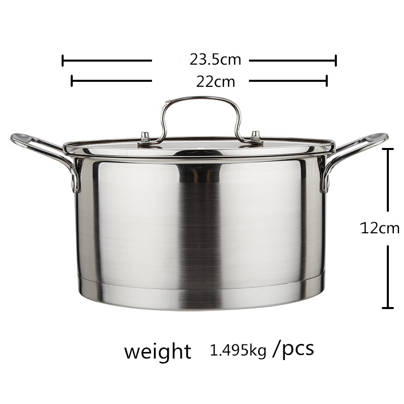 High quality 304 Stainless Steel Soup Pot Stockpot With Glass Lid