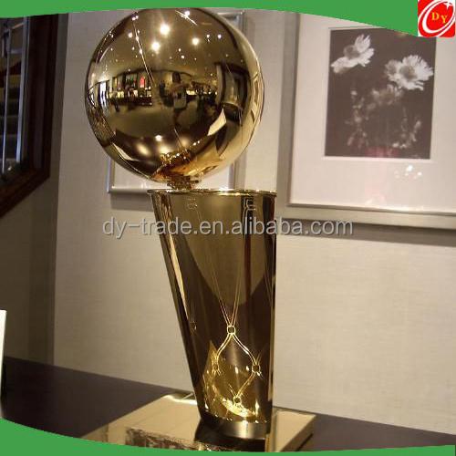 Golden Stainless Steel Trophy for Basketball Contest