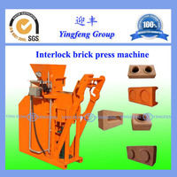 Easy to operate!!!clay soil interlocking brick making machineYF1-25