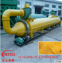Hard quality and large capacity rice slag tubular drum dryer for sale