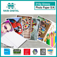 210g pe coated sticker glossy photo paper roll with self adhesive