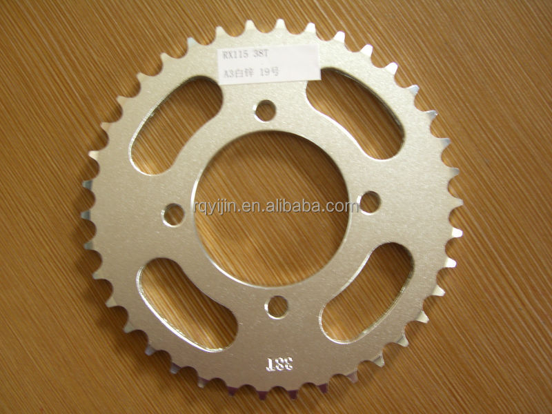 China whole sale Motorcycle front and rear Sprocket set for RX115