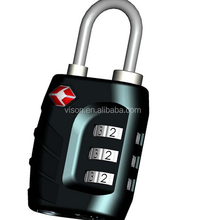 New Design TSA Combination Lock 3-Dial Combination Padlock