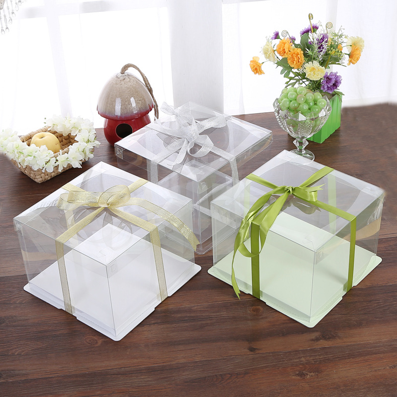 Disposable Transparent Clear Plastic Cake <strong>Box</strong> For Sale