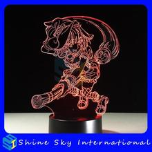 Christmas gifts illusion 3d night light 7 colors animal movie charactor logo cartoon image customized design LED table lamp