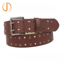Mens Dress Casual Leather Fashion Belts With 2-Prong Roller Removable Buckle