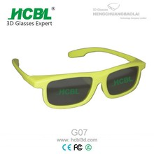 Yellow Stylish Polarized 3D Glasses Eyewear With ABS Frame
