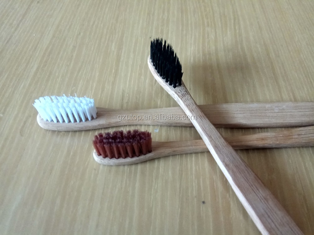 Hotel bamboo toothbrush for charcoal bristle toothbrush with paste