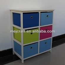 China factory manufacture colorful basket drawer toy/clothes /wardrobe storage cabinet design