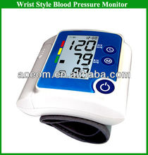 Automatic Digital Wrist Blood Pressure Monitor Watch in Health&medical with auto cut off&memory