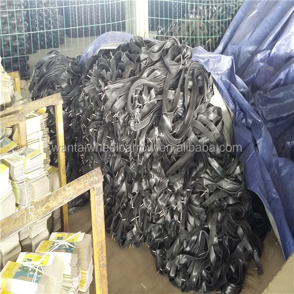 used butyl inner tube scrap 28*1 1/2 rubber bicycle inner tube/durable rubber bicycle inner tube