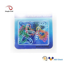 Colored metal paper clip decorative hand shaped paper clips
