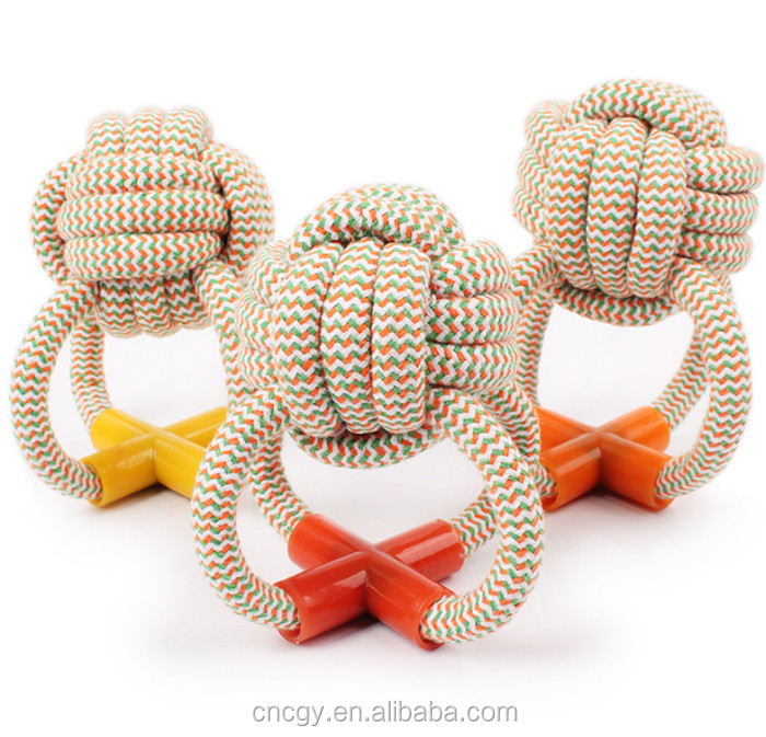 weaving cotton rope cotton toy for pet dog Cotton Rope Chew Toys