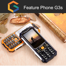 G3S 2.4 inch GST bar waterproof rugged feature phone ip54 dual sim card mobile phone 2017