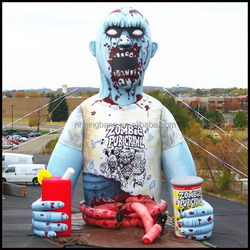 Hot sale giant inflatable zombie for halloween decoration