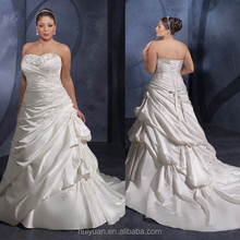 Super Taffeta Sweetheart Plus Size wedding dresses for fat woman