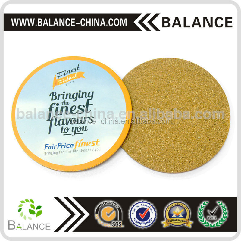 Fashional design round tin plate coaster with card board