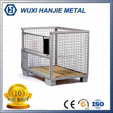 Stackable welding metal wire mesh container security cage for storage