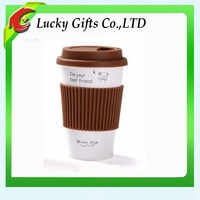 Cute Silicone Ceramic Coffee Mug Without Handle
