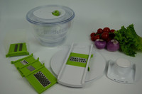 Vegetables Fruits Food Processor, Salad Spinner and Slicer, Salad Dressing Mixer