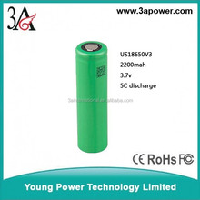US18650V3 3.7v 2200mah 18650 li-ion battery cells Rechargeable Batteries high drain 5C