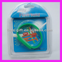 silicone bracelet competitive price custom logo flash memory usb