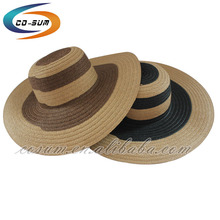 floppy custom women paper beach hat straw mix color sombrero straw hat wholesale