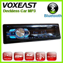 New detachable panel usb sd aux car audio mp3 adapter with fm am & Bluetooth/RDS