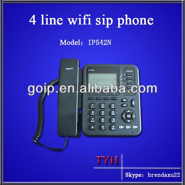 tyh 4 sip wifi rj45 voip pc to phone dialer(IP542N)