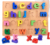 Wooden Number Counting Baby Math Learning Pattern Numbers Matching wooden toy education toy Puzzle game 3D alphabet