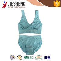 Teengae green sexy bra and panty set seamless sports bra panty set