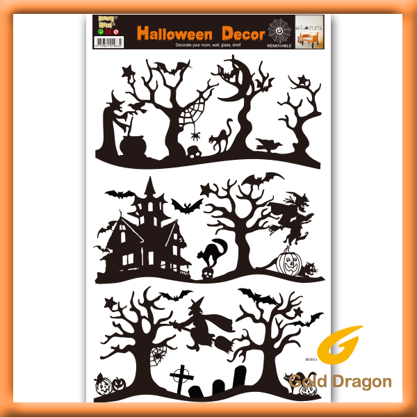 halloween tree wall stickers home art deco