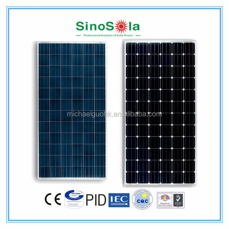 Sinosola Automatic Assembly Line High Quality Product 300W Solar Panel