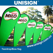 Wholesale cheap and high quality teardrop banner/bow flag