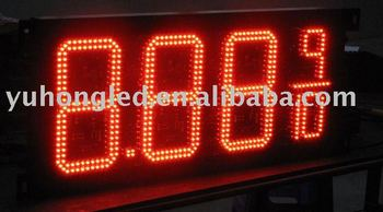 "10"" 8.889/10 Red LED Oil Price Display for Gas Station"