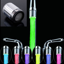 Led Water Faucet light 7 Colors Changing Quick Flashing Shower Stream glow led water tap faucet ftic Water Stream Spout Sink Tap