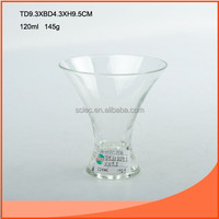 120ml clear glass ice cream cup in crystal glass