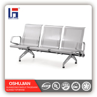 Aluminium alloy the price of steel waiting chair 3 seat