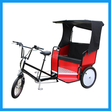 Promotion Electric 2 Passengers Pedicab Bike with Canopy