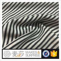 black stripes print rayon challis wholesale,custom dyeing rayon woven fabric for tops and bottoms