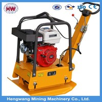 Manual/Electric Start Reversible 30KN 165KG 5.5HP Diesel Engine Powered Plate Compactor HW330