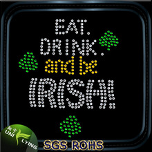 Eat drink and be Irish austrian rhinestones crystal flat back