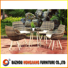 dining chair and top glass dining table with aluminum frame armchair rattan garden outdoor furniture