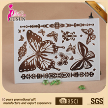 butterfly flash tattoo sticker gold temporary tattoo