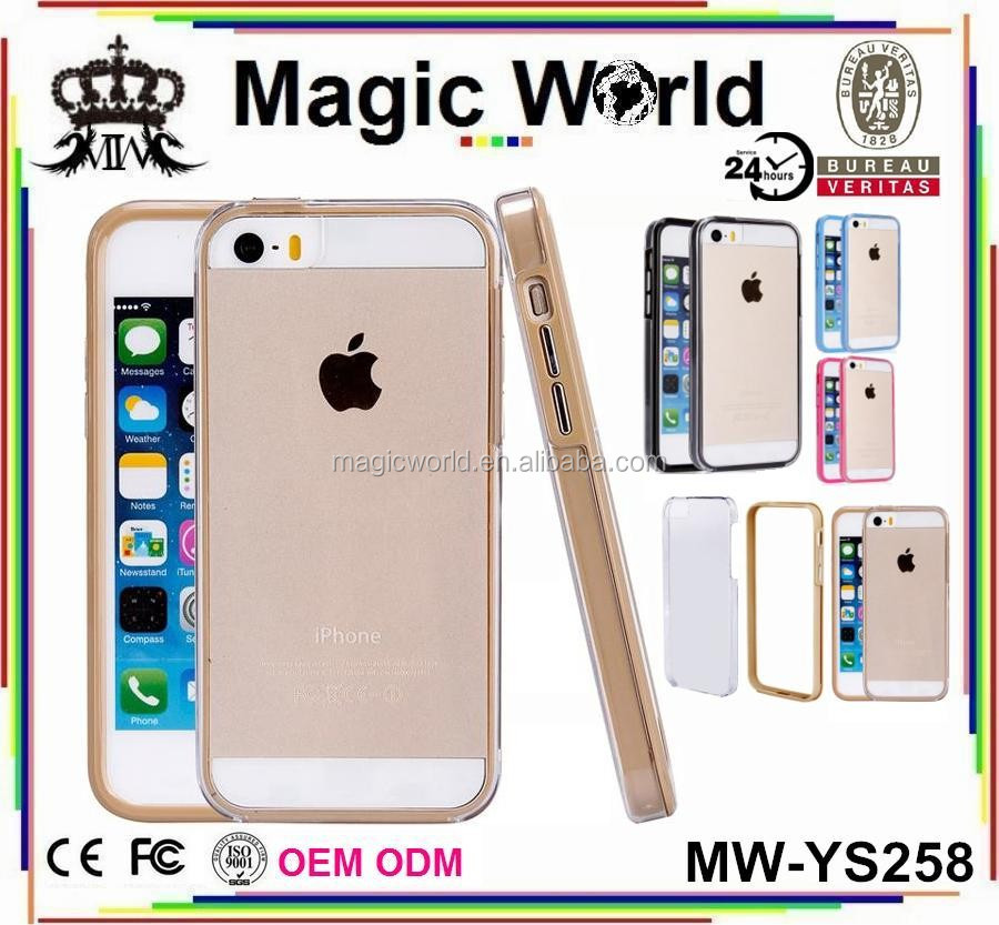 TPU BUMPER CLEAR BACK COVER FOR IPHONE 5 5S 6 6S 6PLUS