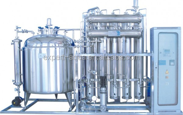 injection water multi-effect distiller with heat preservation storage tank