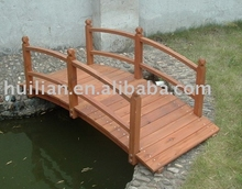 Wood Bridge with rails on two besides (Orange color)