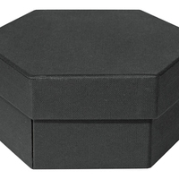 Matte Black Hexagon Gift Box Design