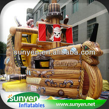 Inflatable Pirate Boat Obstacle Slide