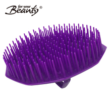 8.2CM diameter plastic massage wash and clean hair brush with handle